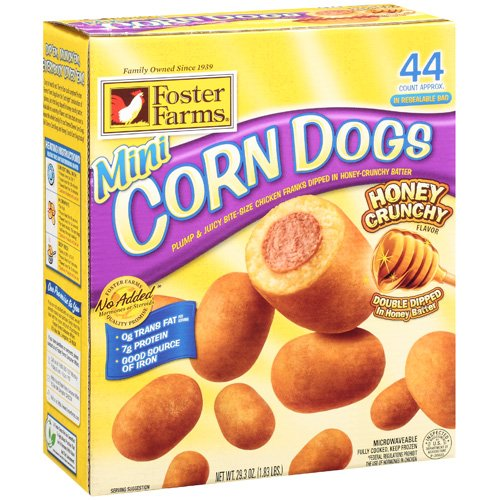 Foster Farms Honey Crunchy Flavor Mini Corn Dogs, 44ct