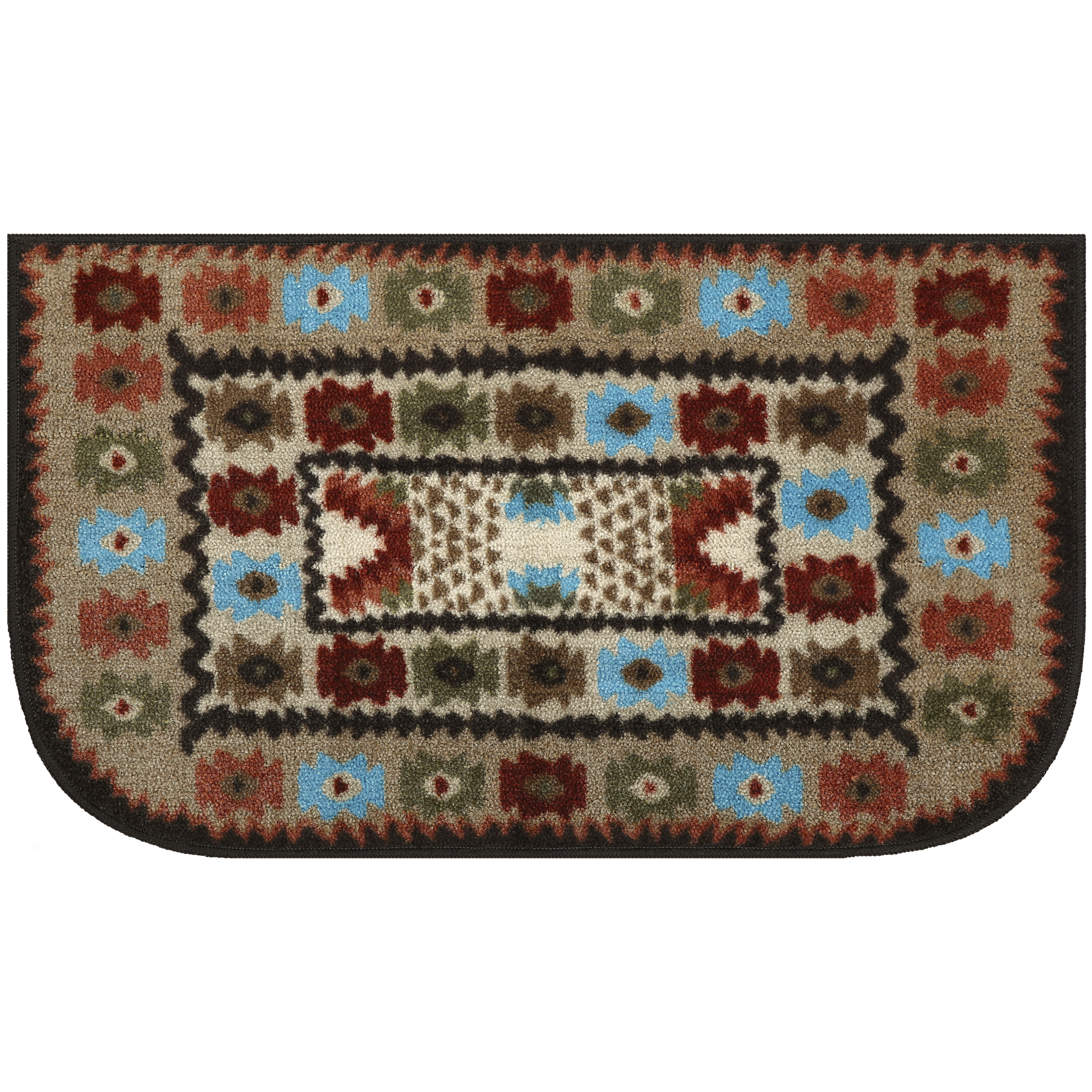"Mainstays Southwest Multi Colored Print Accent Rug, 1'8"" x 2'10"""