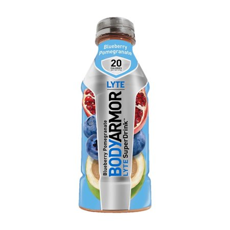 BodyArmor LYTE SuperDrink, Electrolyte Sport Drink, Blueberry Pomegranate, 16 Ounce (Pack of