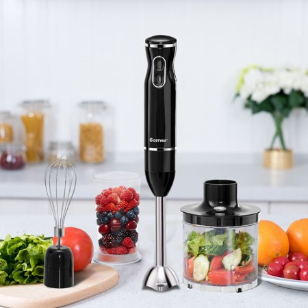 4-in-1 Immersion Hand Blender Set w/ Food Chopper and