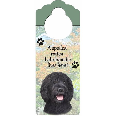 Labradoodle, Yellow Wood Sign