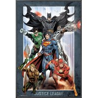 "Justice League Of America - JLA - DC Comics Poster / Print (Superman, Batman, The Flash, The Green Lantern & Aquaman) (Size: 24"" x 36"")"