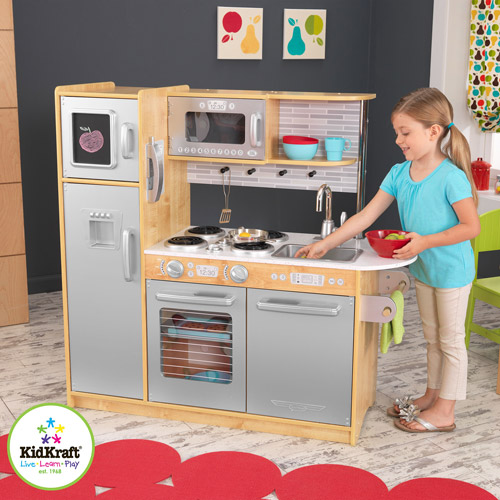 KidKraft Uptown Wooden Play Kitchen, Espresso