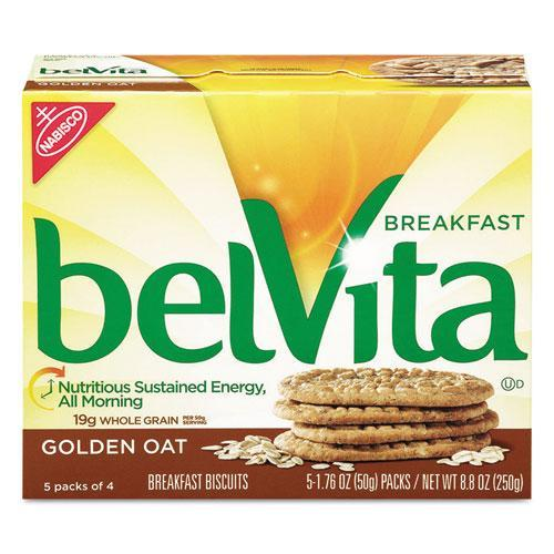 Cadbury Adams 02946 belVita Breakfast Biscuits, 1.76 oz Pack, Golden Oat, 64/Carton