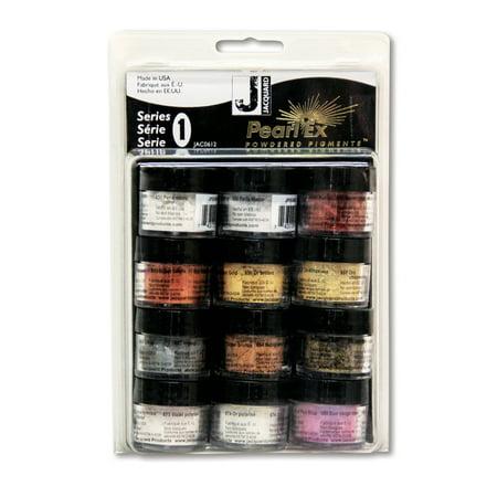 - Jacquard Pearl Ex Pigment, 3g Jars, 12-Color Set, Series 1