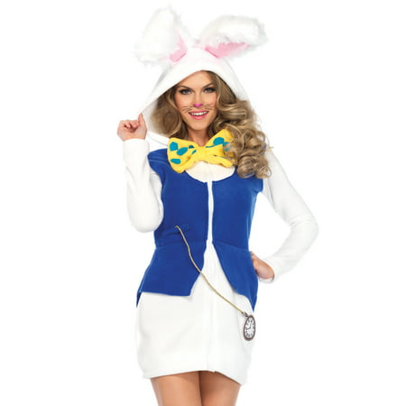 Leg Avenue Women's White Rabbit Wonderland Halloween Costume