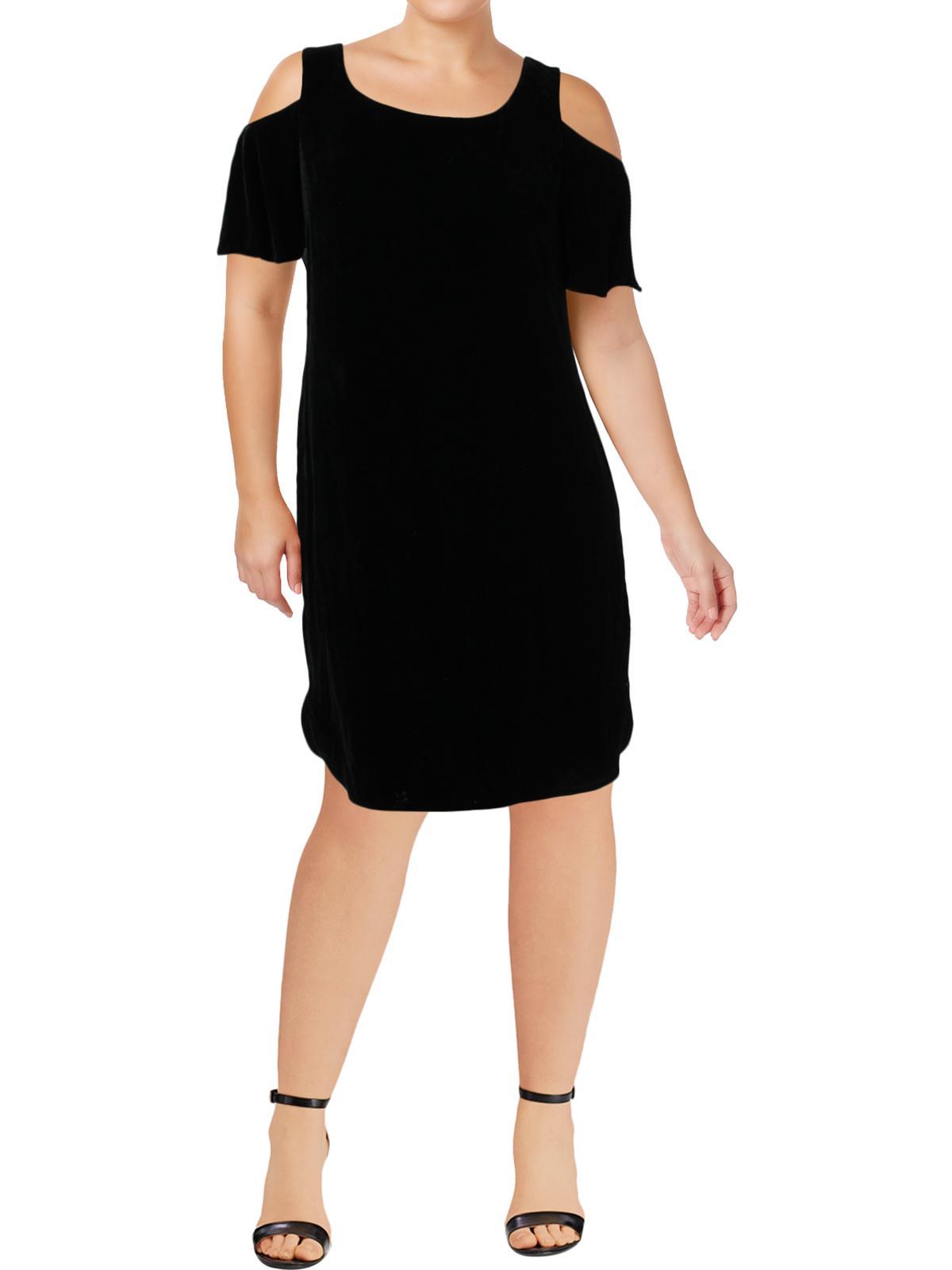 Lauren Ralph Lauren Womens Velvet Cold Shoulder Cocktail Dress