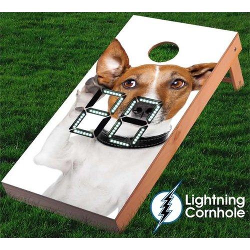 Lightning Cornhole Electronic Scoring Funny Dog Cornhole Board