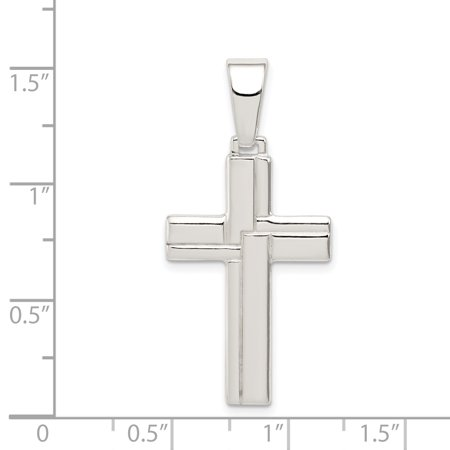 925 Sterling Silver Cross Religious Pendant Charm Necklace Latin Fine Jewelry Gifts For Women For Her - image 4 of 6