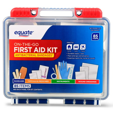 (2 pack) Equate On-The-Go First Aid Kit, 85