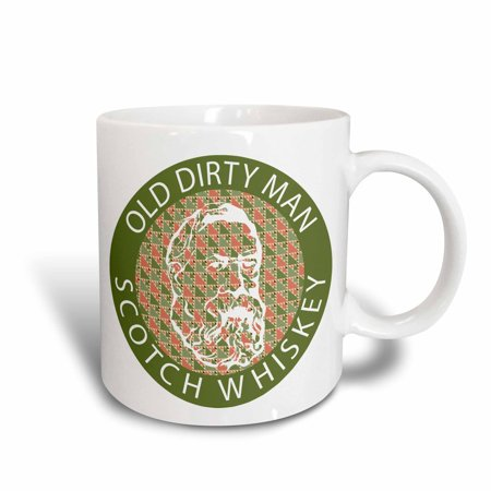 3dRose Old Dirty Man Scotch Whiskey, Ceramic Mug, (Scotch Whisky Distilleries)