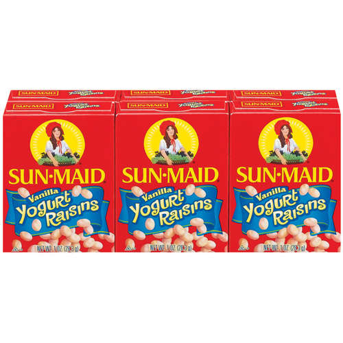 Sun-Maid Snack Size Vanilla Yogurt Raisins, 6pk