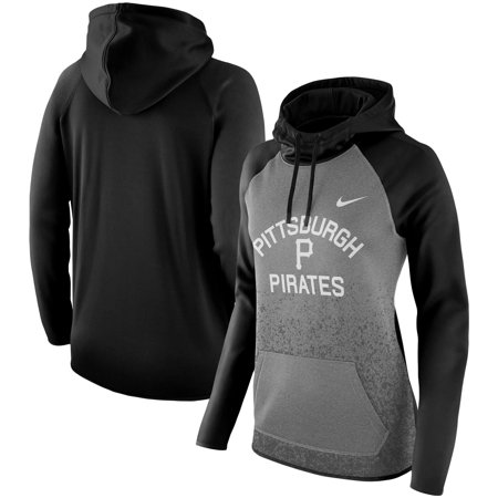 Pittsburgh Pirates Nike Women's All-Time Therma Performance Pullover Hoodie - Dark Gray ()