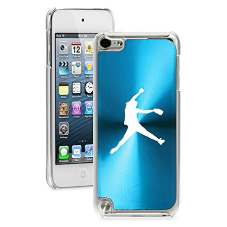 - For Apple iPod Touch 5th / 6th Generation Hard Back Case Cover Female Softball Pitcher (Light Blue)
