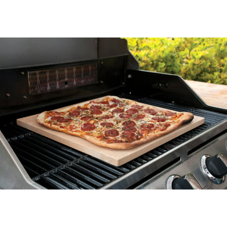 """Image of """"Pizzacraft 15"""""""" Square Cordierite Pizza Stone and Baking Stone, For Oven, Grill or BBQ PC0100"""""""