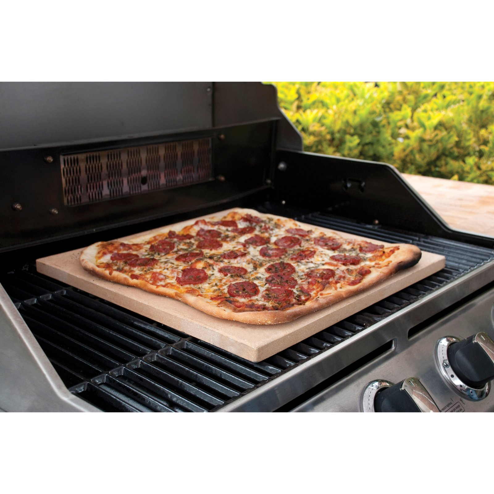 """Pizzacraft 15"""" Square Cordierite Pizza Stone and Baking Stone, For Oven, Grill or BBQ PC0100"""
