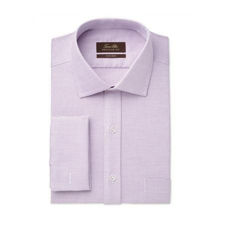 Tasso Elba Mens Non-Iron Mulberry Button Up Dress Shirt mulberrysqrtx 17 1/2 - image 1 of 1