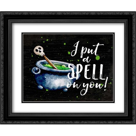 I Put a Spell On You 2x Matted 24x20 Black Ornate Framed Art Print by Cummings, Amy ()