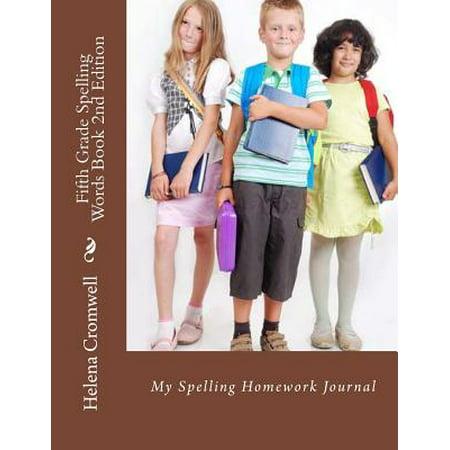 Halloween Craft 5th Grade (Fifth Grade Spelling Words Book : My Spelling Homework)