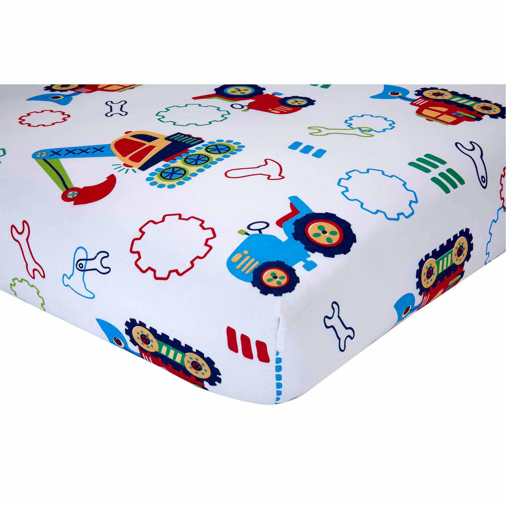 Everything Kids Under Construction 3 Piece Toddler Bedding Set With BONUS  Matching Pillow Case   Walmart.com
