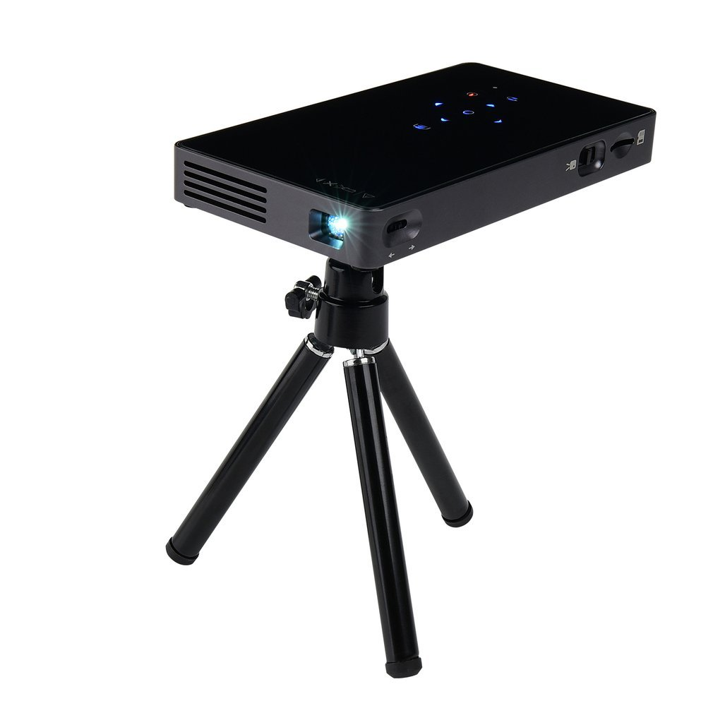 P8I Wireless Bluetooth WiFi Mini DLP Projector Home Business HDMI In Interface