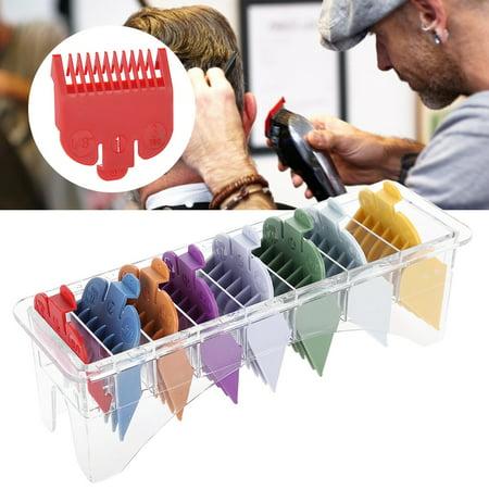 Ejoyous 8 tailles Color Limit Peigne Tondeuse Guide de Coupe de Cheveux Guide de Coupe Attachement, Peigne Taille, Peigne Limite de Cheveux, Peigne Taille - image 4 de 8