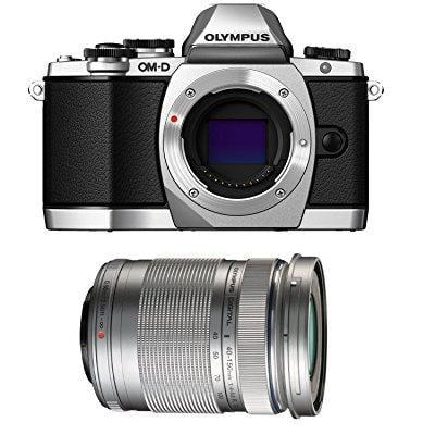 Olympus OM-D E-M10 Mirrorless Digital Camera (Silver) Body only V207020SU000 + Olympus M. 40-150mm F4.0-5.6 R... by Ritz Camera