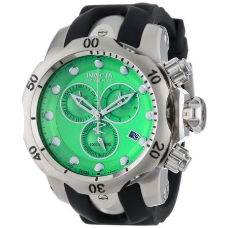 Invicta Men's 6105 Venom Reserve Chronograph Green Dial Black Polyurethane Watch