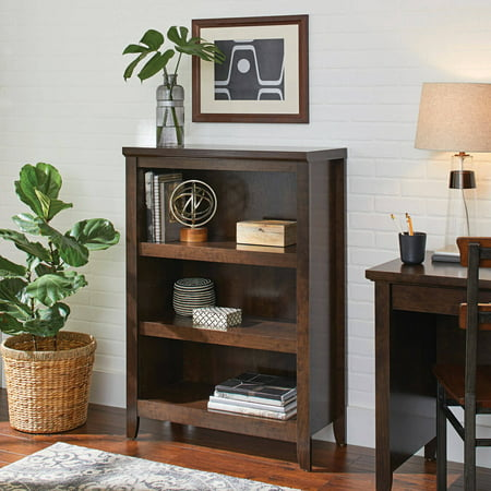 Better homes and gardens parker 3 shelf bookcase estate - Better homes and gardens bookshelf ...