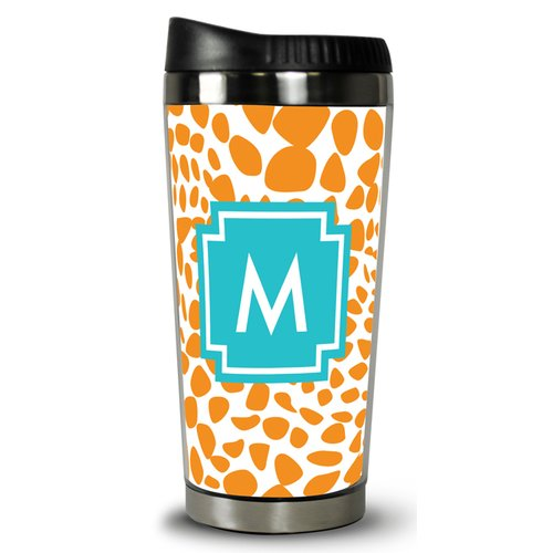 Whitney English Lizard Single Initial Travel Mug