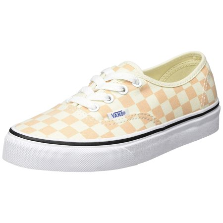 Vans Unisex Checkerboard Skate Shoes-Checkerboard/Apricot Ice-14.5-Women/13-Men (Orange (Checkerboard) Apricot Ice/Classic White Q8k), 12 M US) - Checkered Vans