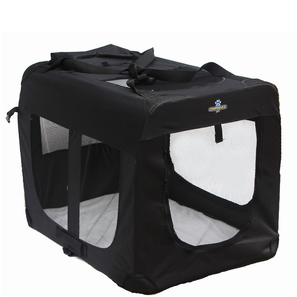 Confidence Pet Portable Folding Soft Sided Dog Crate Kennels Medium
