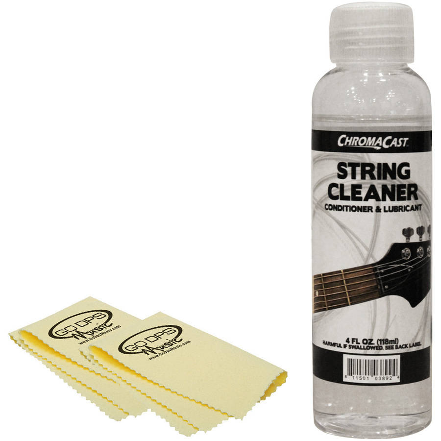 ChromaCast 4 oz Guitar String Cleaner and GoDpsMusic Polish Cloth by
