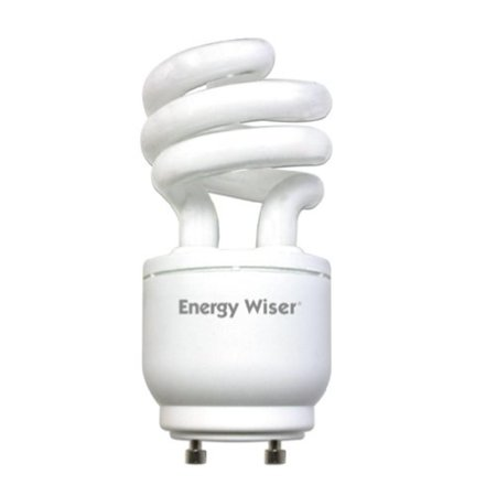 CF13WW/GU24/DM 13W 120V Energy Wiser Dimmable Compact Fluorescent Coil T3 Bulb, Warm White, Continuous smooth dimming down to 20 percent lumen.., By Bulbrite