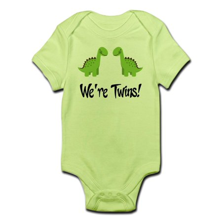 CafePress - Twin Dinosaurs Infant Bodysuit - Baby Light Bodysuit - Dinosaur Onesie