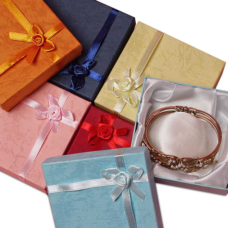 "Colored Jewelry Boxes for Bracelets | Quantity: 12 | Width: 3 1/2"" by Paper Mart"