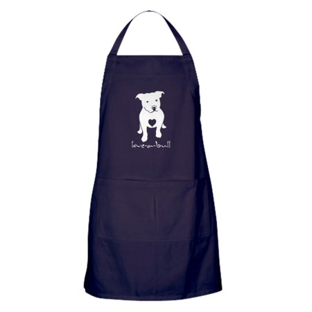 CafePress - Love A Bull Pit Bull - Kitchen Apron with Pockets, Grilling Apron, Baking Apron