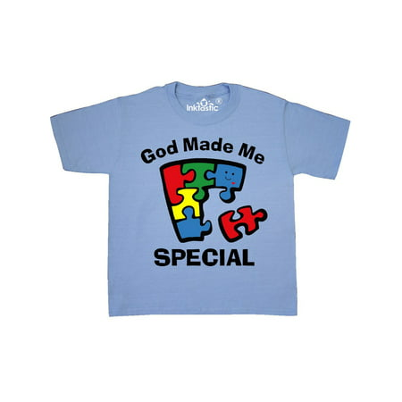 Autism God Made Me Special Youth T-Shirt