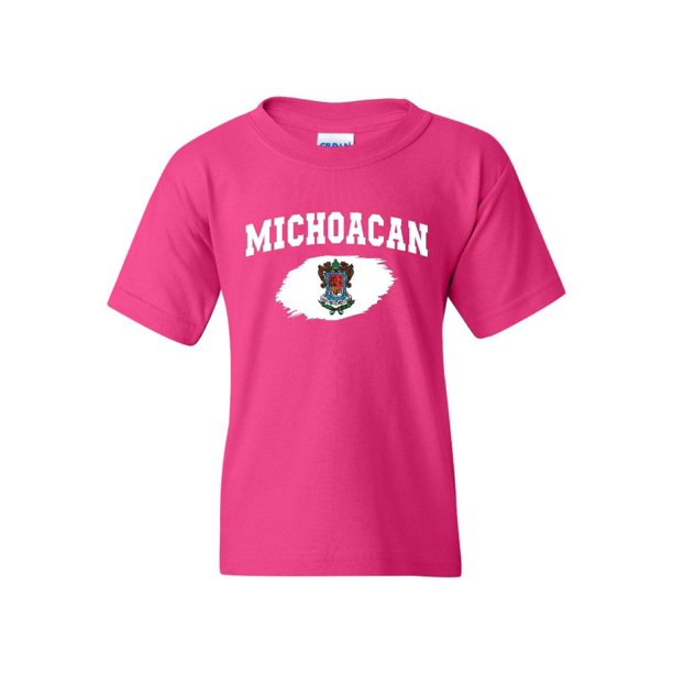 Mexico State of Michoacan Unisex Youth Kids T-Shirt Tee