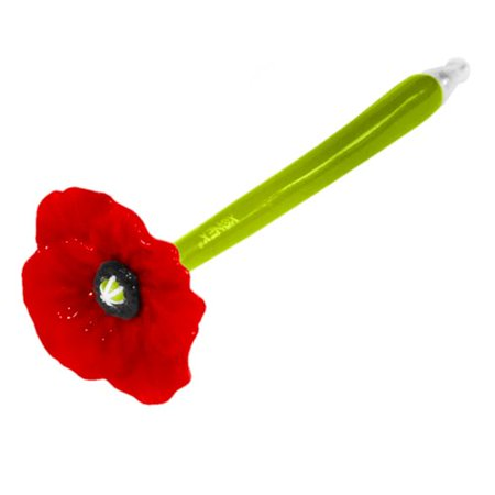 Xonex Poppy Flower Single Pen, Black Ballpoint, 1 count, 5 1/2 Inch, Red (10710)](10 In 1 Multi Color Pen)