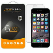 [2-Pack] Supershieldz for Apple iPhone 6 Plus / 6S Plus Tempered Glass Screen Protector, Anti-Scratch, Anti-Fingerprint, Bubble Free