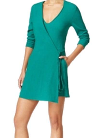 Bar III NEW Green Women's Size Small S Wrap Detail V-Neck Romper