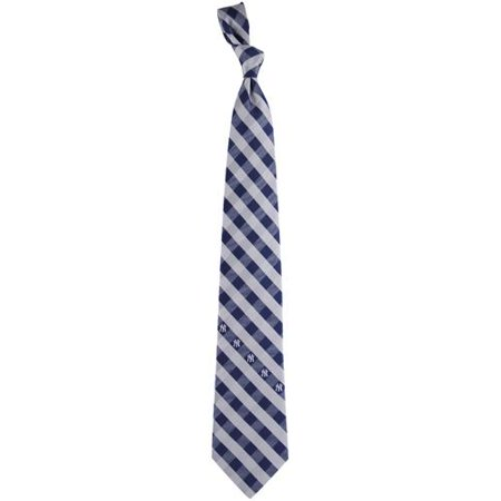 Henry New York Tie - New York Yankees Woven Checkered Tie - No Size