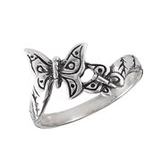 Oxidized Butterfly Wings Beautiful Ring New .925 Sterling Silver Band Size 8