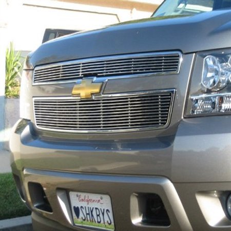 Grillcraft CHE1507-BAO BG Series Polished Aluminum Upper 2pc Billet Grill Grille Insert for Chevy Avalanche Suburban Tahoe