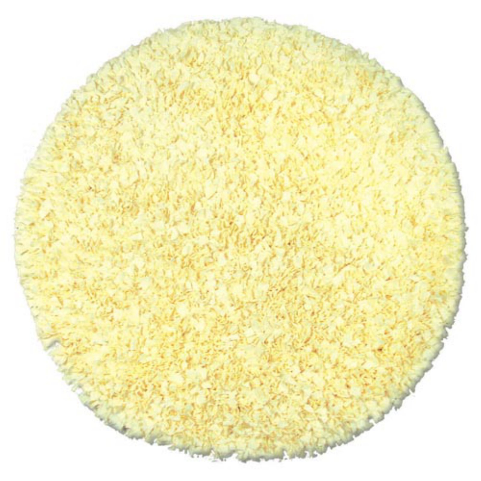 The Rug Market Shaggy Raggy Yellow Area Rug, Size 4' x 4'