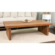 Crafted Home Decorative Lexington Modern Brown Rectangle Coffee Table