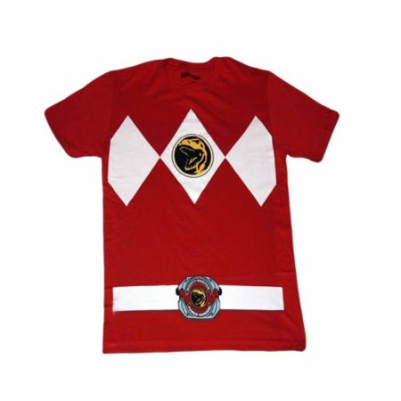Power Rangers Red Ranger Costume Adult - Power Rangers T Shirt Adults