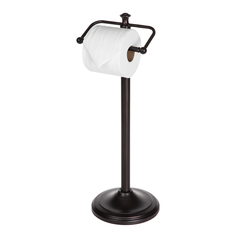 Oil Rubbed Bronze Standing Toilet Paper Holder Better Homes /& Garden