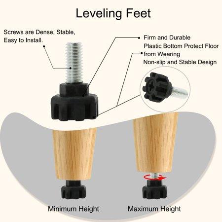 M8 x 17 x 20mm Furniture Glide Leveling Feet Adjuster Pad for Sofa Leg 16pcs - image 4 of 7